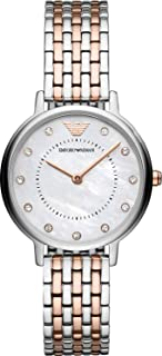Emporio Armani Women's Quartz Watch analog Display and Stainless Steel Strap, AR11094