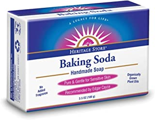 HERITAGE STORE Baking Soda Soap, Bar, Unscented (Carton) | 3.5oz