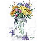 Janlynn Wildflower Jar Counted Cross Stitch Kit