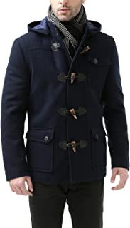 BGSD Men's Nathan Wool Blend Patch Pocket Short Toggle Coat