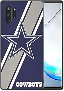 Slim Fit Samsung Galaxy Note 10+ Plus/5G Case,Rugby American Football Game Sports Thin Plastic Full Protection Matte Finish Grip Phone Cover Case for Samsung Galaxy Note 10 Plus Black 009