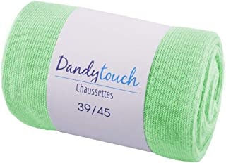 6a132d8737e70 Dandytouch Chaussettes Jersey Homme unies Vert Pomme 39-45 - Fabriqué en  europe