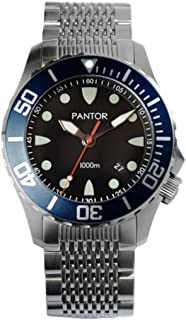 Seahorse 1000m Big Size 45mm Pro Automatic Dive Watch with Helium Valve Rotating Bezel Sapphire Extension Buckles