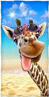 Selfie Super Soft Plush Cotton Beach Bath Pool Towel (Giraffe)