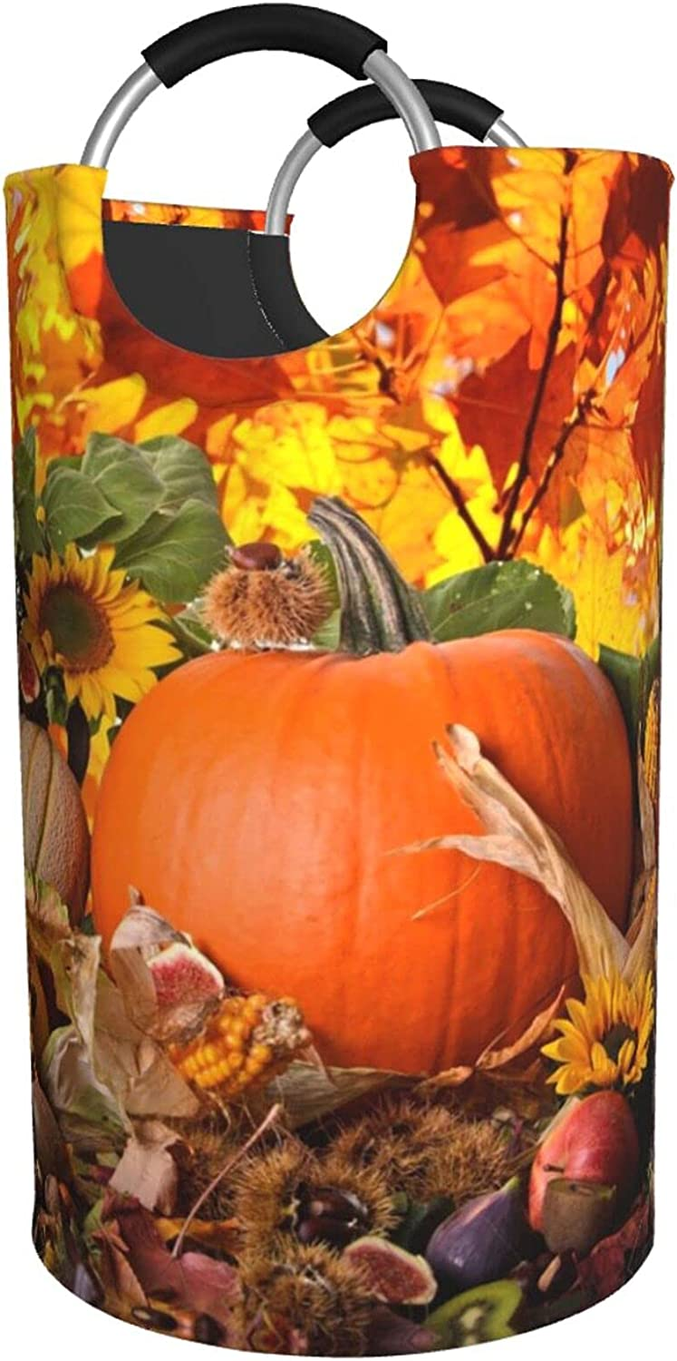 Autumn Leaves Happy Max 67% OFF Thanksgiving Day Hampe Print Pumpkin Laundry Mail order cheap