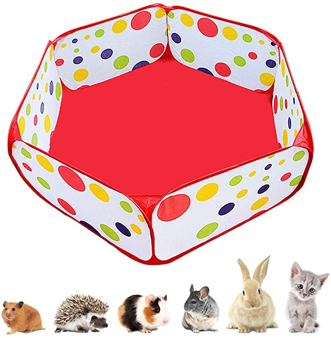 Hamsters Aveland time Pet Playpen,Fence Cage with Bottom for Small ...