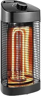 NFJ Estufa Radiante,Radiador, Calefactor Infrarrojo, Calefactor De Exteriores, Potencia De 600 ó 1200 W, Protección IPX4, Oscilación 120 A 360 °C, para Interiores O Exteriores, 2,9 Kg,A