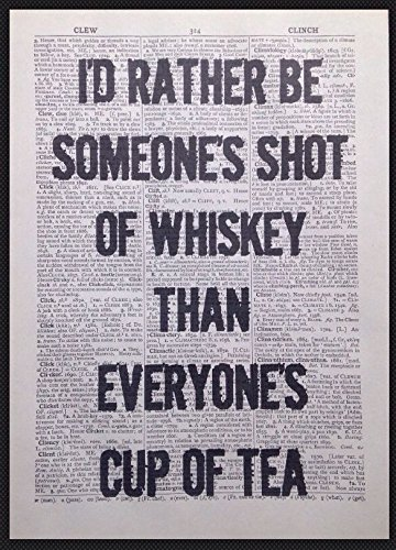 Parksmoonprints Whiskey Quote Print Vintage 1933 Woordenboek Pagina Muur Kunst Beeld Grappig Quirky