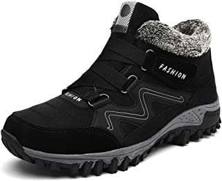 Tricherry Women Winter Thermal Villi Boots Leather Platform High Top Warm Shoes