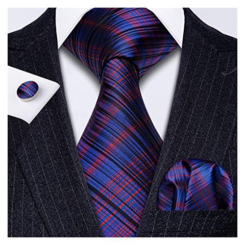 GTUQ Corbata de hombre para hombre, corbata de lazo de rayas púrpuras, pañuelo para hombre, regalo de boda, fiesta, negocio, corbata de seda para boda (color: FA 5207)