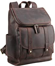 LBYMYB One-Shoulder Travel Backpack Top Leather Luggage Outdoor Computer Bag, Dark Brown, 40x34x14cm Business Briefcase