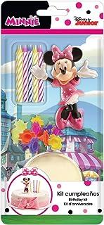 Dekora - Decoracion para Tartas con la Figura de Minnie Mouse y Velas Cumpleaños