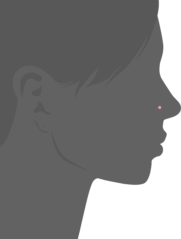 Body Candy Women's Steel Pink Synthetic Opal Dreamy Nose Bone 20 Gauge 1/4
