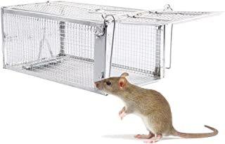 Fasmov Humane Live Small Animal Trap Cage, Hamsters, Moles, Weasels, Gophers, and Other Small Rodents