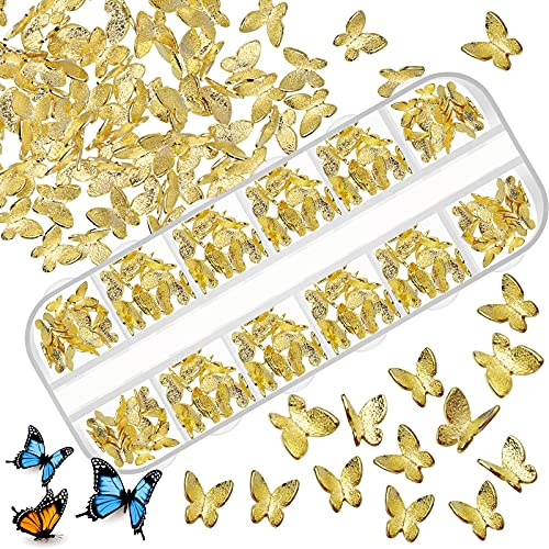 200 Pieces Butterfly Nail Charms 3D Mini...