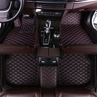 for BMW 5Series Sedan F10 520i 523i 528i 535i 550i 2011-2013 Floor Mats Custom All Full Surrounded Floor Liner All Weather Waterpoof Anti-Slip Left Driving Black and Red