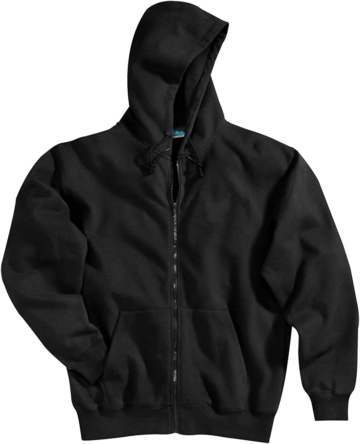 Tri-mountain Cotton poly Kansas City Mall sueded finish zip hooded sweatshir full Financial sales sale