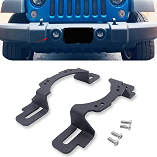 XJMOTO 4 inch LED Fog Light Front Bumper Mounting Brackets Adapter for 2013-2018 Jeep Wrangler Hard Rock Rubicon X,10th Anniversary Editions,75th Anniversary Edition