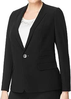 Marina Rinaldi Women's Camelia Single Button Blazer, Black