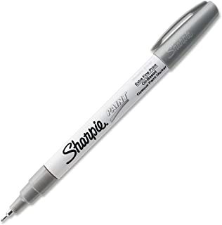 Sharpie Oil-Based Paint Marker, Extra Fine Point, Silver Ink, Pack of 3