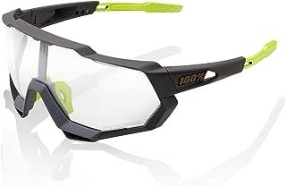 100 Percent - SPEEDTRAP-Soft TACT Cool Grey-PHOTOCHROMIC Lens Gafas, Hombres, Gris-Cristal Transparente, Mediano