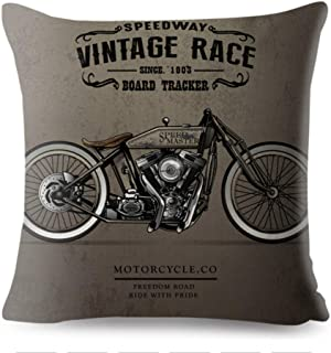 Kustom Factory - Cojín para moto, diseño vintage, color beige