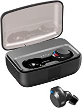 NPET True Wireless Earbuds, Bluetooth 5.0 Bass Stereo Sound IPX8 Waterproof Wireless Earphones 80H Playtime with 3000 mAh Charging Case, Auto Pairing Touch Control Wireless Earbuds for iPhone Android
