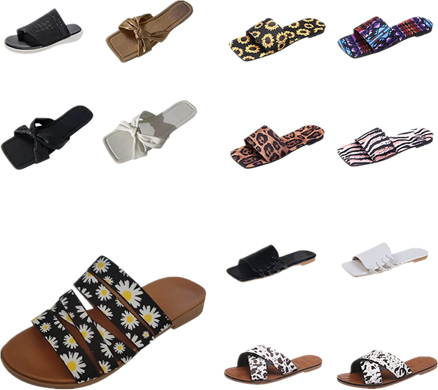 ZiSUGP Summer Thick Heel Fashion Casual Go Out Flip Flop Women's Slippers