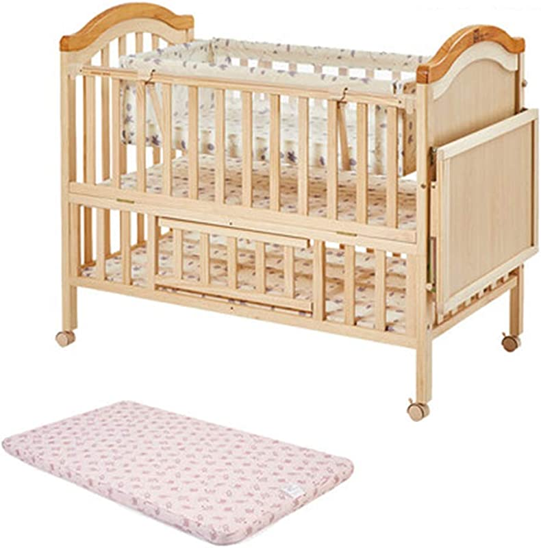 QIAOWW Changing Tables Diaper Station Crib Solid Wood Without Paint Newborn Bed Stitching Large Bed Diaper Table Massage Table
