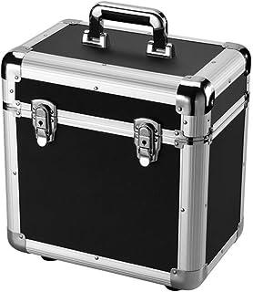 Caja de almacenamiento de álbum de gran capacidad, banquete de fiesta de viaje, estante de almacenamiento LP portátil, caj...