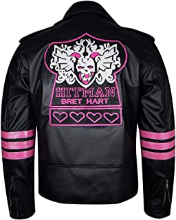 bret hitman hart leather jacket