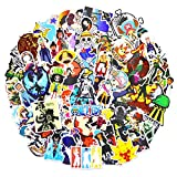 148pcs One Piece Stickers Luffy Anime Stickers for Water Bottle Bumper Computer Desk Cool Gifts for Boys