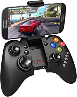 Megadream Wireless Android Gaming Controller Joystick with Phone Clamp for Samsung Galaxy S9 S8 S7 S6 Note 9 8, HTC One, LG, Nokia Smartphone Tablet - Work Windows 8 7 XP & Android TV Box/Android TV