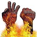 dibikou Silikon-BBQ-Grillhandschuhe, 800? überragende hitzebeständige Ofenhandschuhe zum Grillen, Grillen, Kochen, Braten,Backen mit Anti-Rutsch-Design für Hände und Unterarmschutz