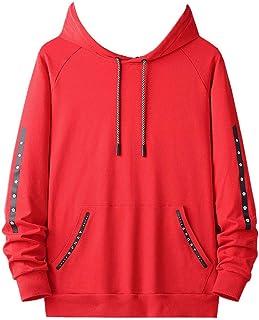 Men Loose Casual Outdoor Training Outerwear Pullover Long Sleeve Hoodie Hooded Jacket Jumper Coat Tops Sweatshirt With Pat...