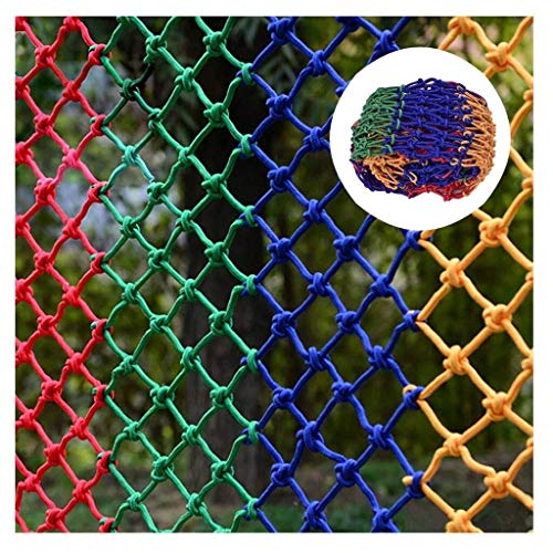 Best Review Of DLYDSSZZ Color Safety Net Child Fall Stair Balcony Railing Trampoline Playground Prot...