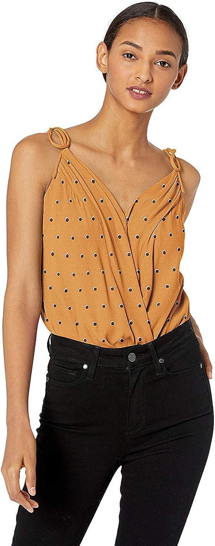 ASTR the label womens Sleeveless Wrap Front Blouse Bodysuit