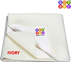 beybee Water Resistant Bed Protector Baby Dry Sheet with Ultra Absorbance (Ivory, 100 X 70 cm, Medium)