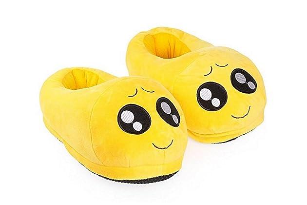 1e11de4fa8cb85 Sabe Unisxe Women Men Home Creative Emoji Cartoon Expression Funny Soft  Couple Slippers