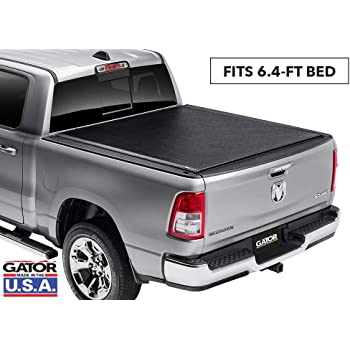 """Gator ETX Soft Roll Up Truck Bed Tonneau Cover   53205   Fits 2009 - 2018, 2019/2020 Classic Ram 1500, 2010-20 2500 & 3500 6'4"""" Bed Bed   Made in the USA"""