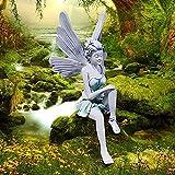 Decoracion Jardin, Figuras Jardin Exterior, Estatua de Hada sentada Decoración Jardin Exterior, Esculturas y estatuas, Estatuas para jardín Escultura jardín Moderna Escultura artesanías Resina Adorno