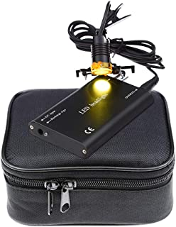 3W Portable Black Dental LED Headlight, Head Light, Headlamp With Filter for Dental Surgical Medical Binocular Loupe