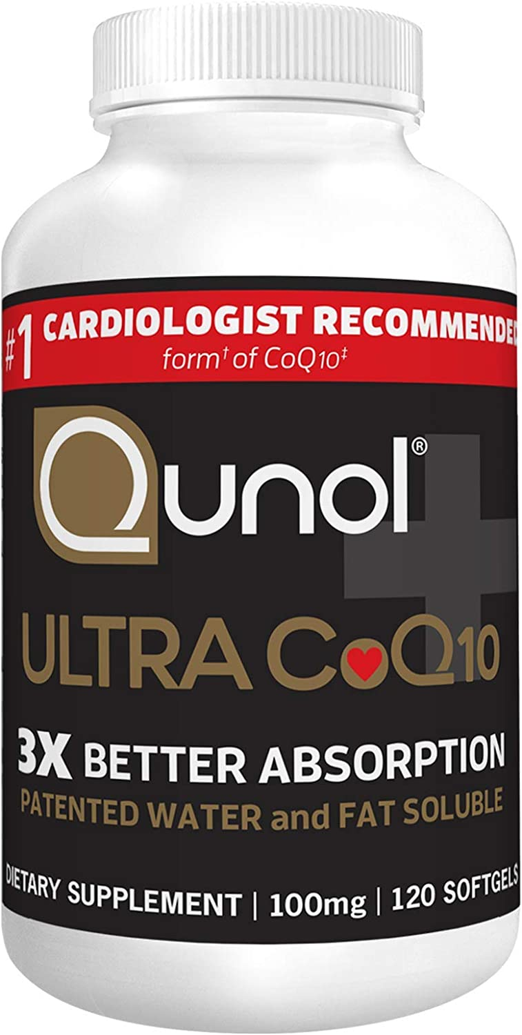 Qunol Ultra CoQ10 100mg, 3x Better Absorption, Patented Water and Fat Soluble Natural Supplement Form of Coenzyme Q10, Antioxidant for Heart Health, 120 Count Softgels : Health & Household