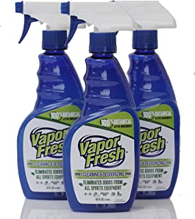 Vapor Fresh Natural Cleaning and Deodorizing Spray - Great for Sports Pads, Boxing Gloves, Gym Equipment, Yoga Mats, Shoes...