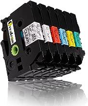 6 Pack Combo Set Compatible for Brother P-Touch Label Tapes TZ131 TZ231 TZ431 TZ531 TZ631 TZ731 12mm x 8m, 1/2