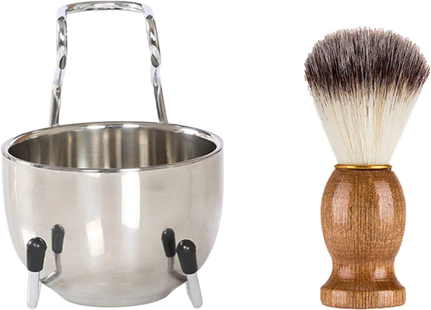 OhhGo 3 in 1 Cheap sale Mens Shaving Set Brush Stainless Special sale item Steel Hair