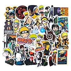 Every Sticker is Surprise: Totally 50 Naruto stickers, contains various characters and scenes in the anime, every sticker you get will surprise you! Material: All water bottle stickers are made of high quality material, with sun protection and waterp...