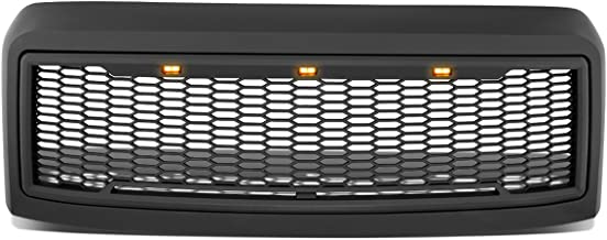 DNA Motoring GRL-F25008MESH-BK Matte Black Mesh Front Grille with Shell with LED [For 08-10 Ford F250/F350 SD]