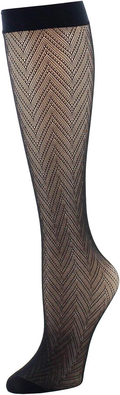 Natori Women's Chevron Net Trouser Socks Two-pack   Natori