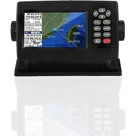 Garmin Striker 5in Marine Satellite GPS Tracker Navigator Velocímetro Pantalla LCD a color XF-520 Posicionamiento en modo dual Plotter de carta de barco